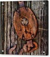 Boat - Block And Tackle Acrylic Print