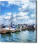 Boat - Boat Basin Fells Point Acrylic Print
