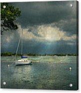 Boat - Canandaigua Ny - Tranquility Before The Storm Acrylic Print