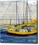 Boat Dock At Kenosha Wisconsin Harbor Acrylic Print
