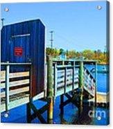 Boat Dock In Rhode Island Acrylic Print