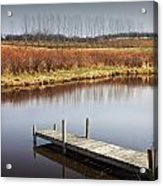 Boat Dock On A Pond In South West Michigan Acrylic Print