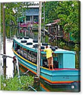 Boat For Transportation On Canals In Bangkok-thailand Acrylic Print