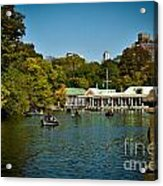 Boat House Central Park New York Acrylic Print by Amy Cicconi