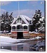 Boat House Acrylic Print by Lorena Mahoney