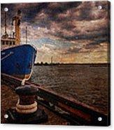 Boat In Marina Acrylic Print