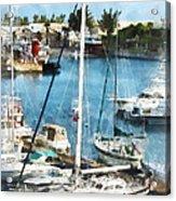 Boat - King's Wharf Bermuda Acrylic Print