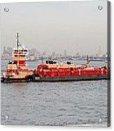Boat Meet Barge Acrylic Print
