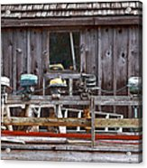 Boat Motors Going Nowhere Acrylic Print