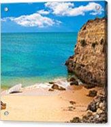 Boat On Beach Algarve Portugal Acrylic Print
