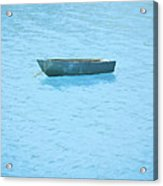 Boat On Blue Lake Acrylic Print