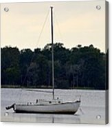 Boat On Calm Waters Acrylic Print