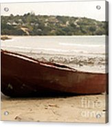 Boat On Shore 02 Acrylic Print by Pixel Chimp