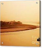 Boat On Yamuna River Acrylic Print