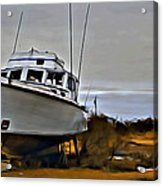 Boat Out Of Water Acrylic Print