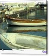 Boat Pier Acrylic Print