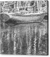 Boat Reflection Acrylic Print