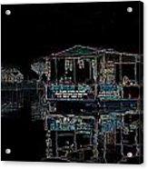 Boat Restaurant Acrylic Print by Vijinder Singh