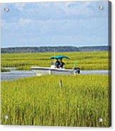 Boat Ride In The Marsh Acrylic Print