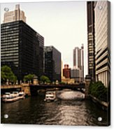 Boat Ride On The Chicago River Acrylic Print