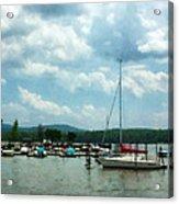 Boat - Sailboat At Dock Cold Springs Ny Acrylic Print