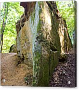 Boat-shaped Rock Wildcat Den State Park Acrylic Print