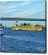 Boat Traffic Acrylic Print by Olivier Le Queinec