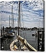 Boat Under The Clouds Acrylic Print