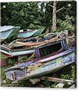 Boat Yard Acrylic Print by Heather Applegate