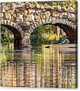 Boaters Under The Bridge Acrylic Print