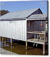 Boathouse At Low Tide Acrylic Print