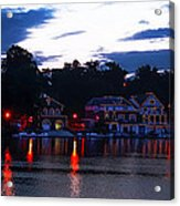 Boathouse Row Along The Schuylkill River At Dawn Acrylic Print