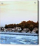 Boathouse Row And Farmount Dam Acrylic Print