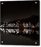 Boathouse Row At Night Acrylic Print