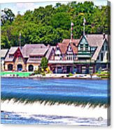 Boathouse Row - Hdr Acrylic Print