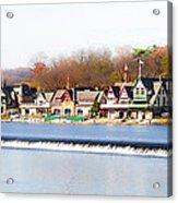 Boathouse Row In Autumn Acrylic Print