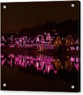 Boathouse Row In Pink Acrylic Print