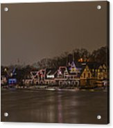 Boathouse Row In The Evening Acrylic Print
