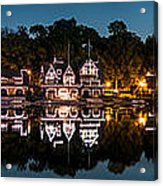 Boathouse Row Panorama Acrylic Print