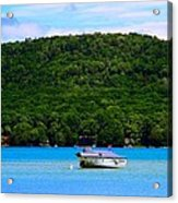 Boating At Sleeping Bear Dunes Lake Michigan Acrylic Print