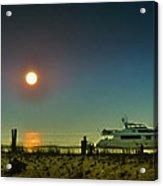 Boating At Sunrise Acrylic Print