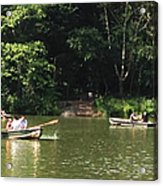 Boating In Central Park Acrylic Print