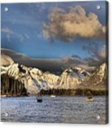 Boating In The Tetons Acrylic Print by Dan Sproul
