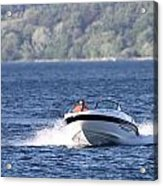 Boating On Grand Traverse Bay Acrylic Print
