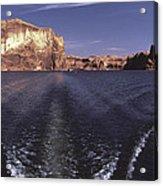 Boating On The Colorado River In Glen Canyon Utah Usa Acrylic Print