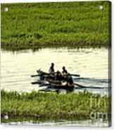 Boating On The Nile River Acrylic Print