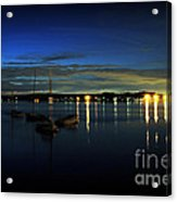 Boating - The Marina At Night Acrylic Print by Paul Ward
