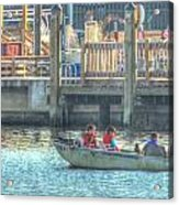 Boating With The Kids Acrylic Print