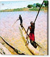 Boatmen Painting Acrylic Print