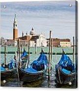 Boats Anchored At Marina Venice, Italy Acrylic Print